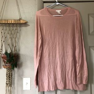 Pink Sweater - basic and perfect for layering